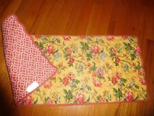 New listing Waverly Yellow Floral/Burdt Orange Print 14 In W X 34 In Long Table Runner
