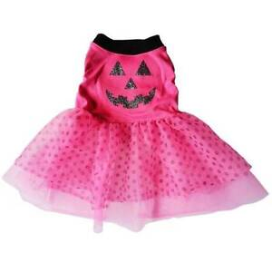 NWT Pink and black LED light-up dog dress costume Large Halloween
