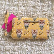 ♡ Betsey Johnson ♡ Bow Cat zip around wallet