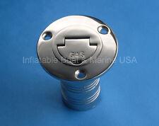 "Boat Deck Fill / Filler Keyless Cap -1 1/2""- Gas Marine 316 Stainless Steel"