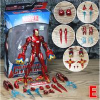 "Marvel Avengers Iron Man 7"" Action Figure Nano Weapons Ironman Tony Stark Legend"