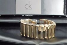 CK45 Calvin Klein Armreif Dress Stainless Steel Gold PVD coated