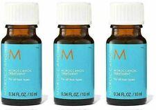 New 3 MOROCCANOIL Treatment Oil Original 10 ml .34 oz each Travel Size Moroccan