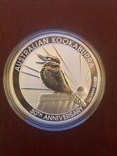Coin  Australia 2020  Kookaburra 1 Oncia %999 Moneta Argento Silver proof