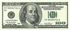One single $100 dollar federal reserve / fiat - ponzi paper note