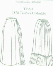 Truly Victorian TV221 sewing pattern for 1878 Tie Back underskirt ALL size Uncut
