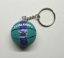 NBA Basketball New Orleans HORNETS Spalding Ball KEY CHAIN Ring Keychain NEW