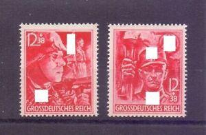 Deutsches Reich 1945 - Die beiden letzten Marken 909/910 - Michel 80,00 € (577)
