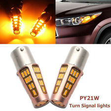 AU BA15S PY21W High Power Amber LED Turn Signal Light Front Indicator Lamp Bulb
