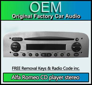 Alfa Romeo Gt Lettore CD Radio Stereo con Codice E Unità Principale Di Chiavi