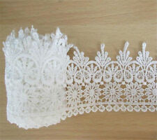 5 Yards Polyester Embroidered Lace Trim Ribbon Wedding Bridal Sewing Craft