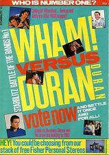 Wham! Versus Duran Duran Starblitz Magazine 1985