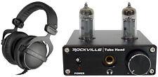 Beyerdynamic DT-770-PRO-32 Ohm Studio Monitoring Headphones + Tube Headphone Amp