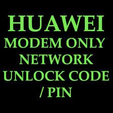 UNLOCK CODE HUAWEI MODEM GE161, E166, E169 E169G, E170