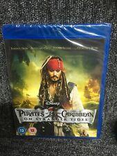 Pirates Of The Caribbean - On Stranger Tides Blu ray New & Sealed. Freepost Uk