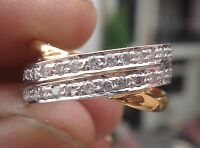 0.64ct Diamond 14k Yellow White Gold New Design Wedding Ring