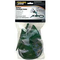 PowerZone ORFL10506 Outdoor Floodlight Holder Kit with 6' Cord & Stake, Green