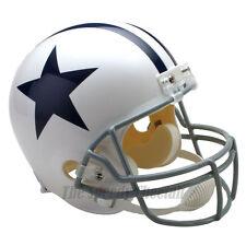 DALLAS COWBOYS 60-63 WHITE THROWBACK NFL FULL SIZE REPLICA FOOTBALL HELMET