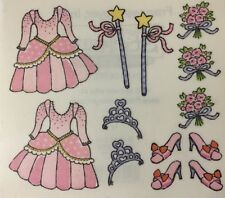 PRINCESS Mylar Stickers(13pc) Frances Meyer•Dress•Shoes•Wand•Flowers •Crown•Girl
