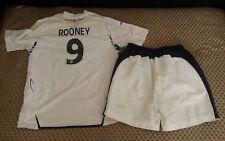 England football kit shirt+shorts  size LB 12 -13 years  umbro  #9 Rooney