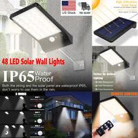 48 LED Solar Lights Motion Sensor Wall Light Outdoor Waterproof Garden Yard Lamp