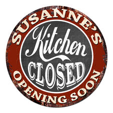 CWKC-0606 SUSANNE'S KITCHEN CLOSED Chic Tin Sign Decor Mother's day Gift