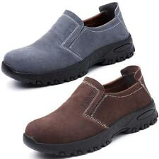 Mens Hiking Sneakers Welder Shoes Slip on Steel Toe Safety Work Boots Shoes Hot