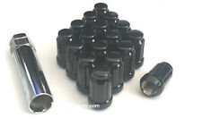 "24 Premium Black 6 Spline Drive/Tuner Wheel/Lug Nuts (7/16""-20) Wheel Locks New"