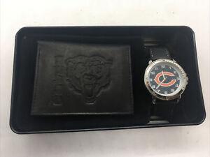 NFL Chicago Bears Men Leather Watch/Wallet Set  E