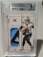 2015 MARCUS MARIOTA TOPPS DEFINITIVE RC JUMBO PATCH BGS 9 MINT SUBS (10,10,9,9)