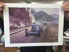 New listing Bugatti At Monaco Grand Prix Signed Print By Michael Turner