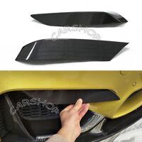 For BMW F80 F82 M3 M4 Front Bumper Carbon Fiber Upper Side Splitter Canards Lip