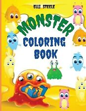 Monster Coloring Book Awesome Funny Big Printed Designs Mons by Steele Elli