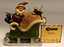 Blossom Bucket Jolly Old St. Nick Santa in Sleigh