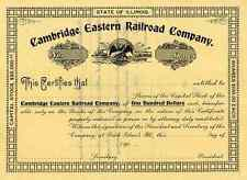 New listing 190_ Cambridge Eastern Rr Stock Certificate