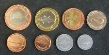 CABINDA Angola 8-coin BU tipo Set 2014 (20, 50 Avos + 1 REAL a 25 REAIS)