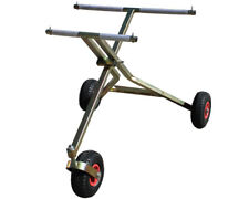 Scissor 3 Wheel Trolley w/ Plastic Pneumatic Wheels New UK KART STORE