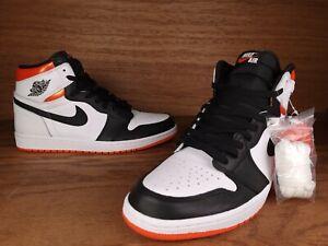Nike Air Jordan 1 Retro High OG Electro Orange Basketball Mens Sz 12 (555088 180
