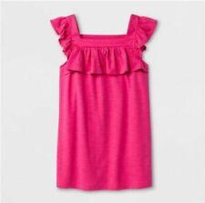 Cat & Jack  Girls Ruffle Tank top Sleeveless Hot Magenta Pink - Choose Size