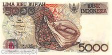 Indonesia 5000 Rupiah 1992/1993 Unc Pn 130b