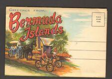 Undated Unused Postcard Souvenir Folder of Bermuda Islands