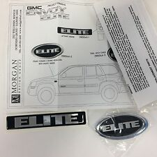 Genuine GMC ENVOY ELITE Front Fender Insert Liftgate Badge Emblem OEM #091004A