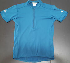 Cannondale size L 1/2 zip Teal cycling jersey