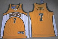 NEW REEBOK SWINGMAN LEWIS JERSEY SONICS MAGIC SMALL S SM YOUTH YELLOW Y