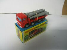 Matchbox Lesney Superfast SF10 Pipe Truck- RED transitional, boxed