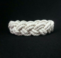 Turks Head Knot White Cord Bracelet Sailor Surfer Bracelet Summer beach bracelet