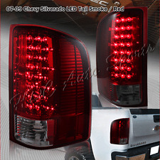 For 2007-2013 GMC Sierra 2500HD 3500HD LED Smoke/Red Lens Rear Brake Tail Lights