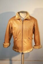 Marcia Collection Tan Coat Jacket Skin Genuine Leather Size M