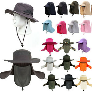 Unisex Outdoor Sport Fishing Hiking Camping Hat UV Protection Face Flap Sun Caps