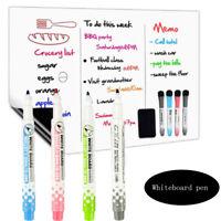 Record Fridge Memo Magnets Erasable Whiteboard Marker Whiteboard Pen Magnetic